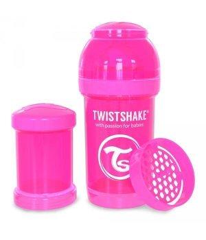 Twistshake антиколиковая бутылочка 180мл Розовая (78001)