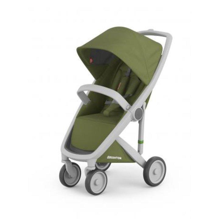 Прогулочная коляска Greentom Upp Classic Olive (Оливковая) шасси Grey