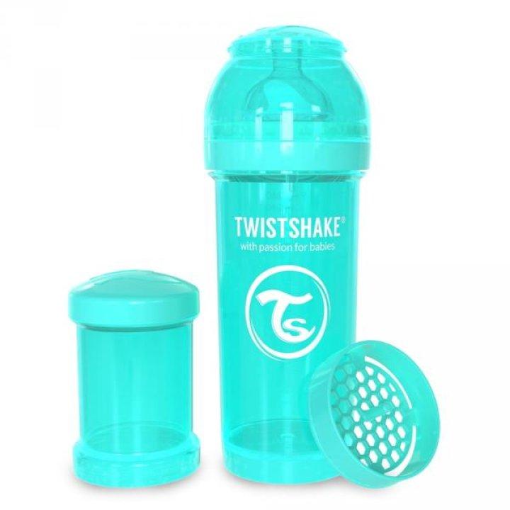 Twistshake антиколиковая бутылочка 260мл Бирюзовая (78035 )