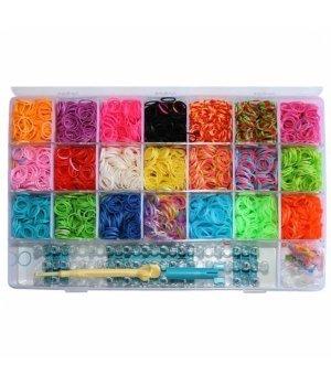 Набор для плетения цветными резинками Loom 5000 шт