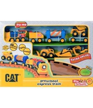 Железная дорога Toy State CAT со светом и звуком для дошкольников. (80408)
