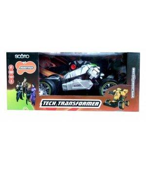 Автомобиль-трансформер на р/у SOOMO Robotron серая