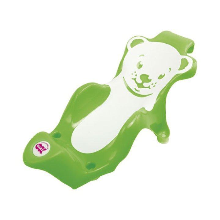 Поддерживающая горка для купания OK Baby Buddy салатовый