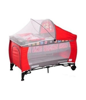 Детская кроватка манеж Caretero Grande red