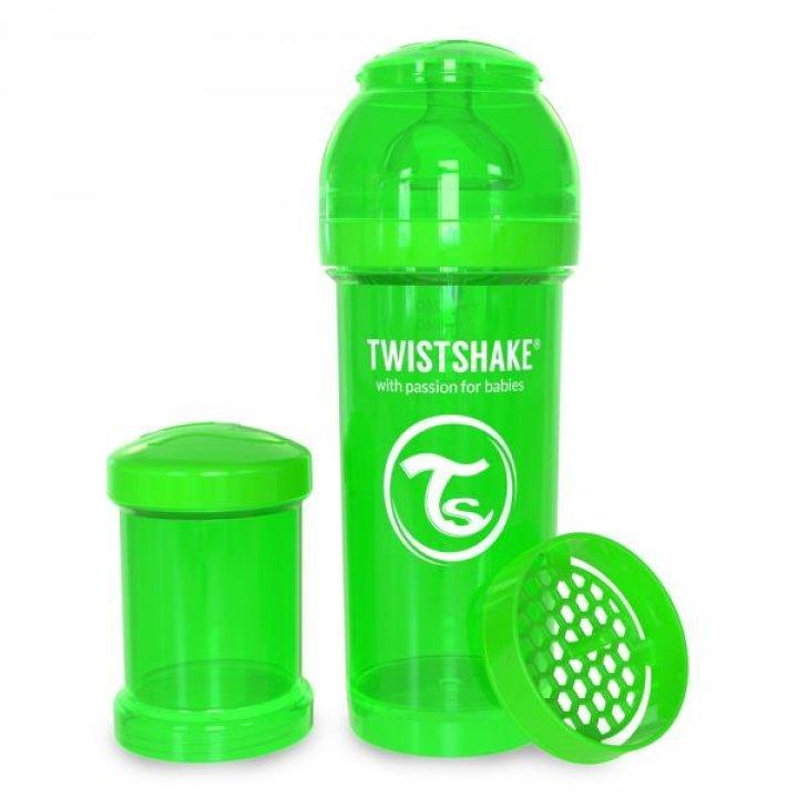 Twistshake антиколиковая бутылочка 260мл Зеленая (78010)