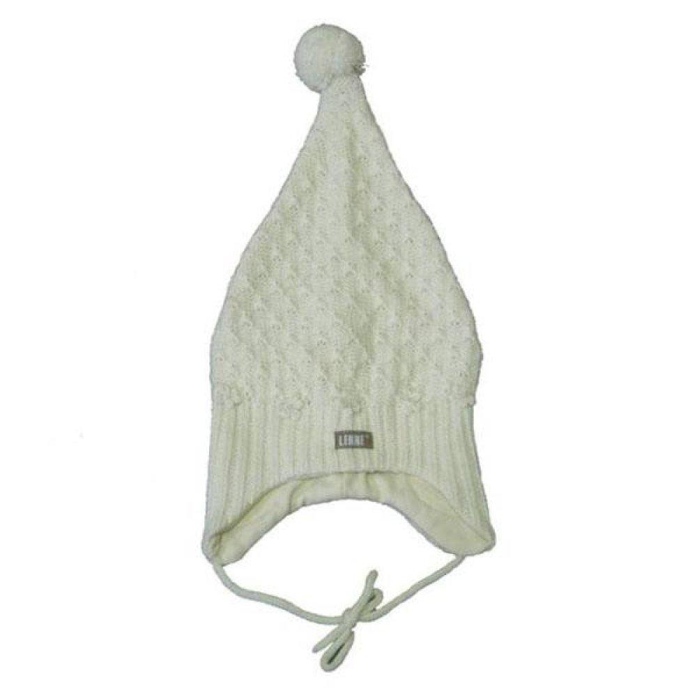 детская вязаная шапка Lenne Flora молочная купить по низкой цене в