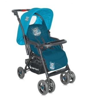 Коляска трансформер 2 в 1 Bertoni Combi Just4Kids blue get the world