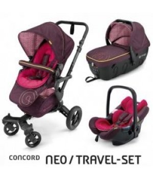 Универсальная коляска 3 в 1 Concord NEO Travel Set Rose Pink 2016