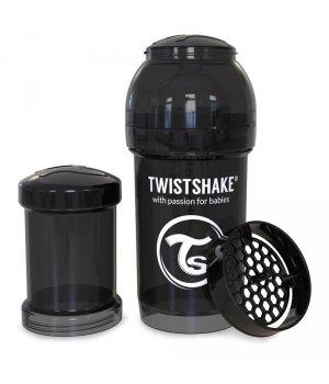Twistshake антиколиковая бутылочка 180мл Черная (78042)