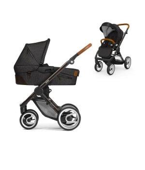 Универсальная коляска 2 в1 Mutsy Evo Industrial Charcoal/ Industrial Black Brown