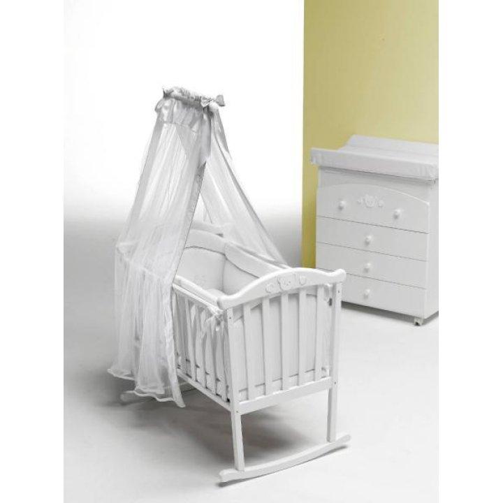 Люлька-колыбель Baby Italia DIDI CULLA WHITE Белая