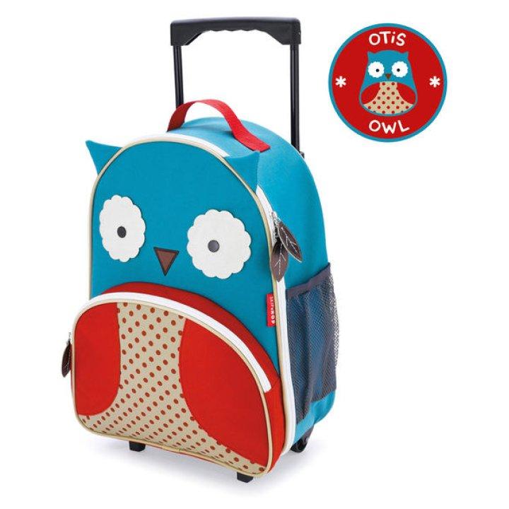 Детский рюкзак на колесиках с выдвижной ручкой Совёнок (212304)