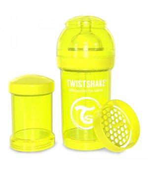 Twistshake антиколиковая бутылочка 180мл Желтая (78039)