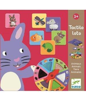 Детская игра Djeco тактильное лото Животные