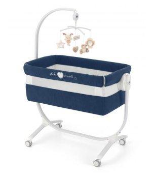 Приставная колыбель-кроватка CAM Cullami с постелью Синяя 146