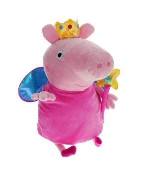 Мягкая игрушка Peppa с короной и волшебной палочкой (45 см)