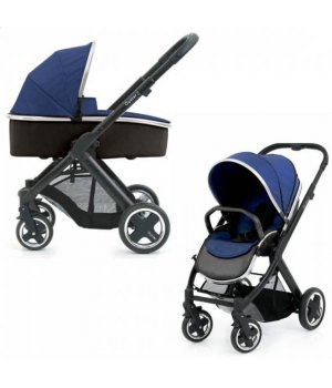 Универсальная коляска 2 в 1 BabyStyle Oyster 2 Navy / Mirror (Синяя)