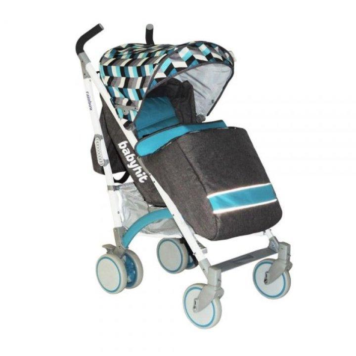 Прогулочная коляска трость Babyhit Rainbow (D200) Blue Diamond (Голубая с белым)