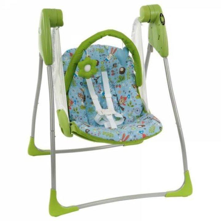 Кресло-качалка Graco Baby Delight Myfriend (салатовый с голубым)