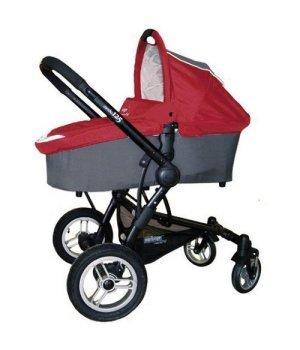 Универсальная коляска 2 в 1 Pur Equipage Combo 12.5 красно-серая