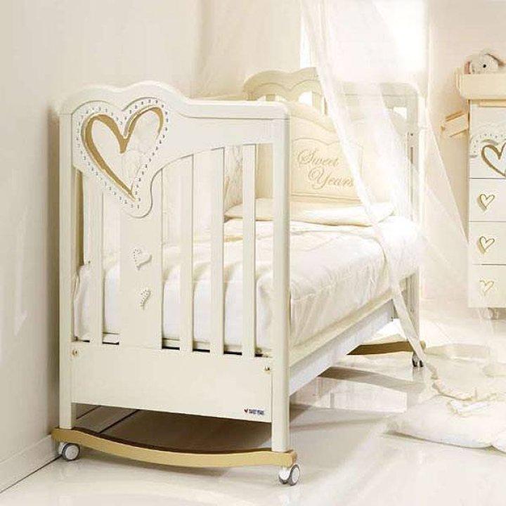 Детская кроватка Sweet Years Gold Dreams Белый с золотом