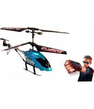 Вертолет PaulG Falcon на ИК управлении с пультом-перчаткой Синий