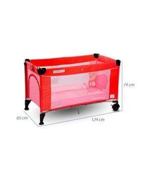 Детская кроватка-манеж Caretero Simplo red