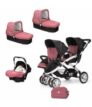 Универсальная коляска 3 в 1 для двойни Casualplay S-TWINNER BABY Boreal