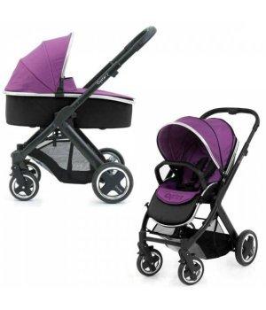 Универсальная коляска 2 в 1 BabyStyle Oyster 2 Grape / Mirror (Сиреневая)
