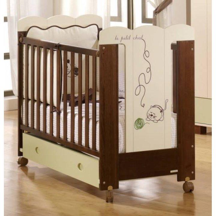 Детская кроватка Micuna Cats Шоколад/Слоновая кость
