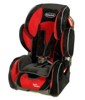 Автокресло Baby Safe Sport Premium красный/велюр