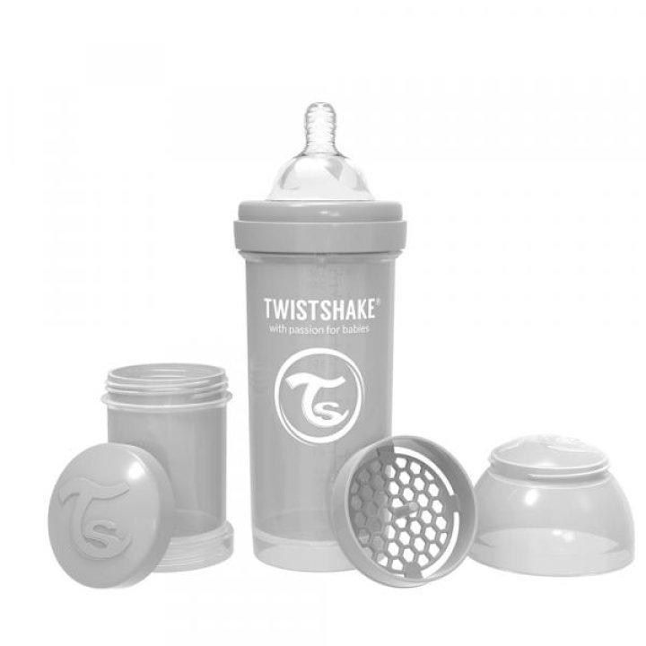 Twistshake антиколиковая бутылочка 260мл Серая (78260)