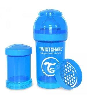 Twistshake антиколиковая бутылочка 180мл Голубая (78002)