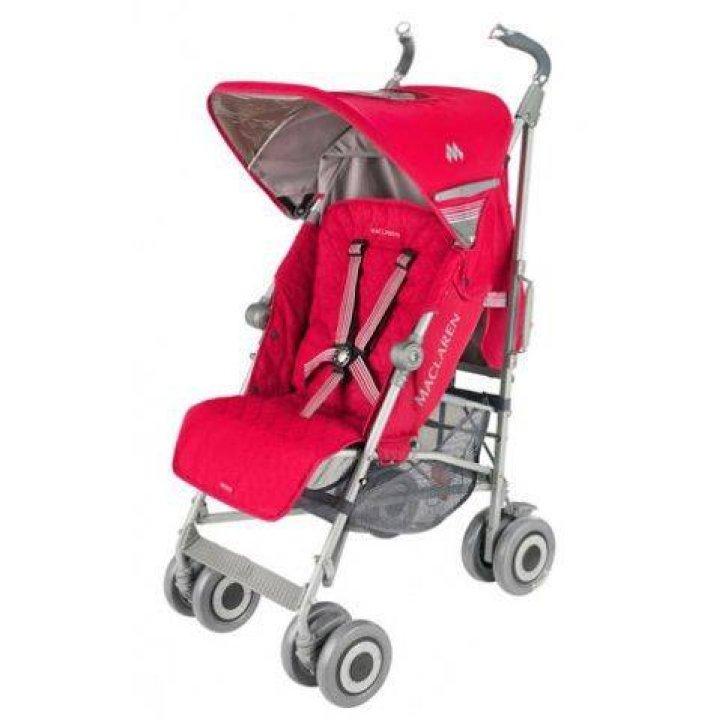 Прогулочная коляска Maclaren Techno XLR Persian red/Penguine grey