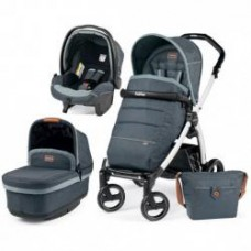 Универсальная коляска 3 в 1 Peg Perego Book S POP UP Modular 2017 ( шасси S Black/White) Blue Denim
