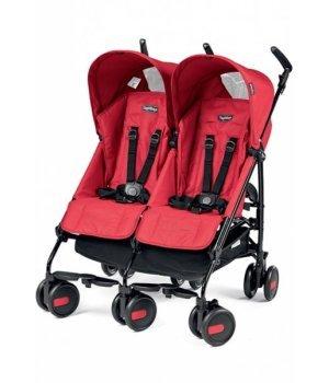 Прогулочная коляска для двойни Peg-Perego PLIKO MINI TWIN Classico MOD RED