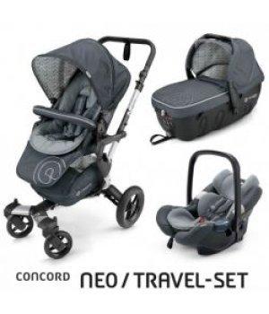Универсальная коляска 3 в 1 Concord NEO Travel Set Graphite Grey 2016