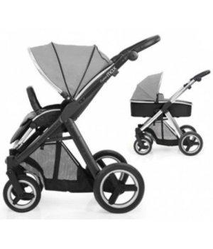 Универсальная коляска 2 в 1 BabyStyle Oyster Max Silver Mist / Mirror (Серая)