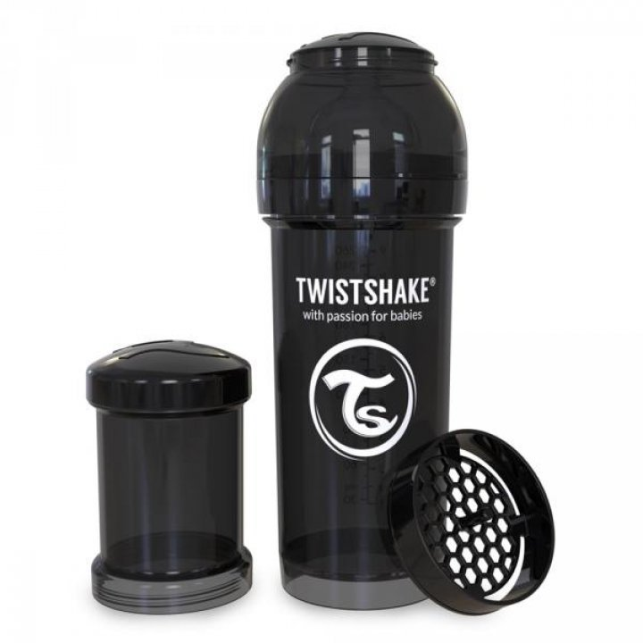 Twistshake антиколиковая бутылочка 260мл Черная (78043 )