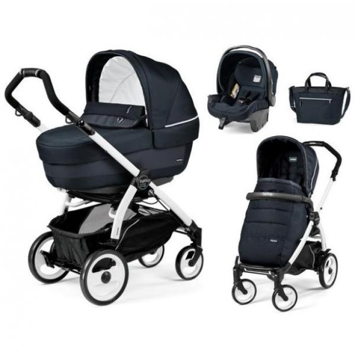 Универсальная коляска 3 в 1 Peg-Perego Book 51 Elite Modular 2018 (шасси 51 Black/White) Luxe Blue Night