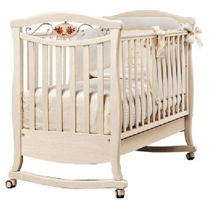 Детская кроватка Bambolina Principessa Lux Слоновая кость