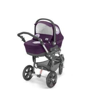 Универсальная коляска 3 в 1 CAM CORTINA X3 TRIS EVOLUTION фиолетовый