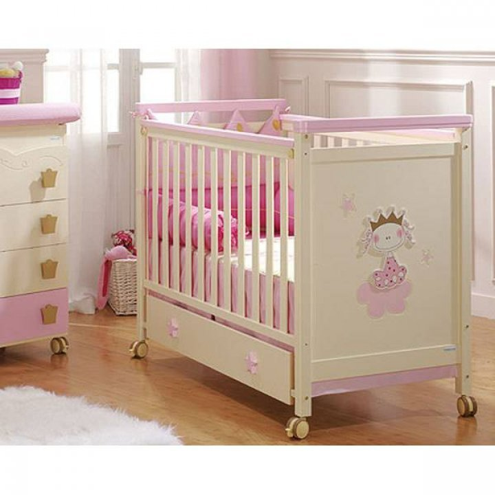 Детская кроватка Micuna Petit Princesse Розовый