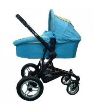 Универсальная коляска 2 в 1 Pur Equipage Combo 12.5 голубо-зеленая