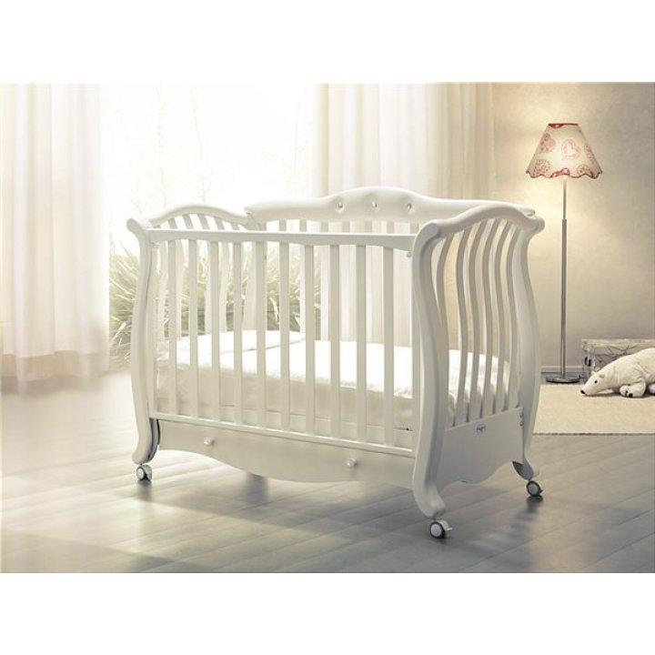 Кроватка Baby Italia ANDREA PELLE Слоновой кости со стразами