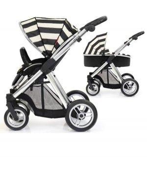 Универсальная коляска 2 в 1 BabyStyle Oyster Max Vogue Humbug / Mirror (Полосатая)