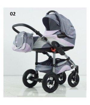 Универсальная коляска 2 в 1 Tako Ingis Go Stal PC 02 (серо-фиолет c серебром)