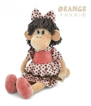 Orange Мягкая игрушка Обезьяна в платье в горошек и туфлях 65 см (5008/35SK)