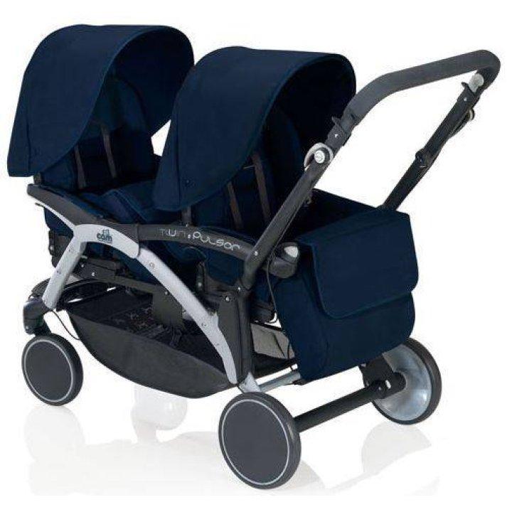 Прогулочная коляска для двойни CAM Twin Pulsar тёмно-синий