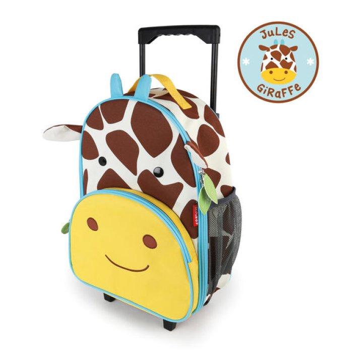 Детский рюкзак на колесиках с выдвижной ручкой Жираф (212311)